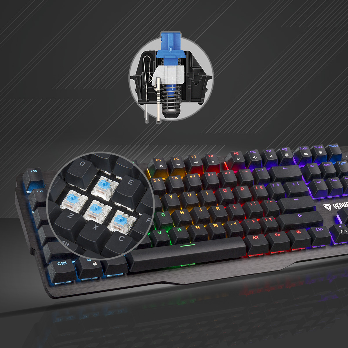 Content Blue mechanical switches